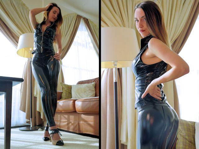Slinkystylez shiny leggings